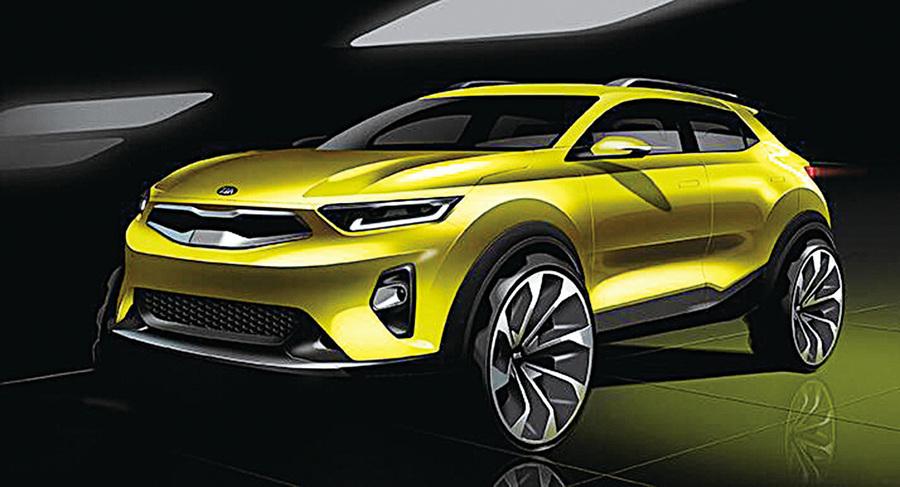起亞公佈新款小型SUV STONIC效果圖 下月韓國上市