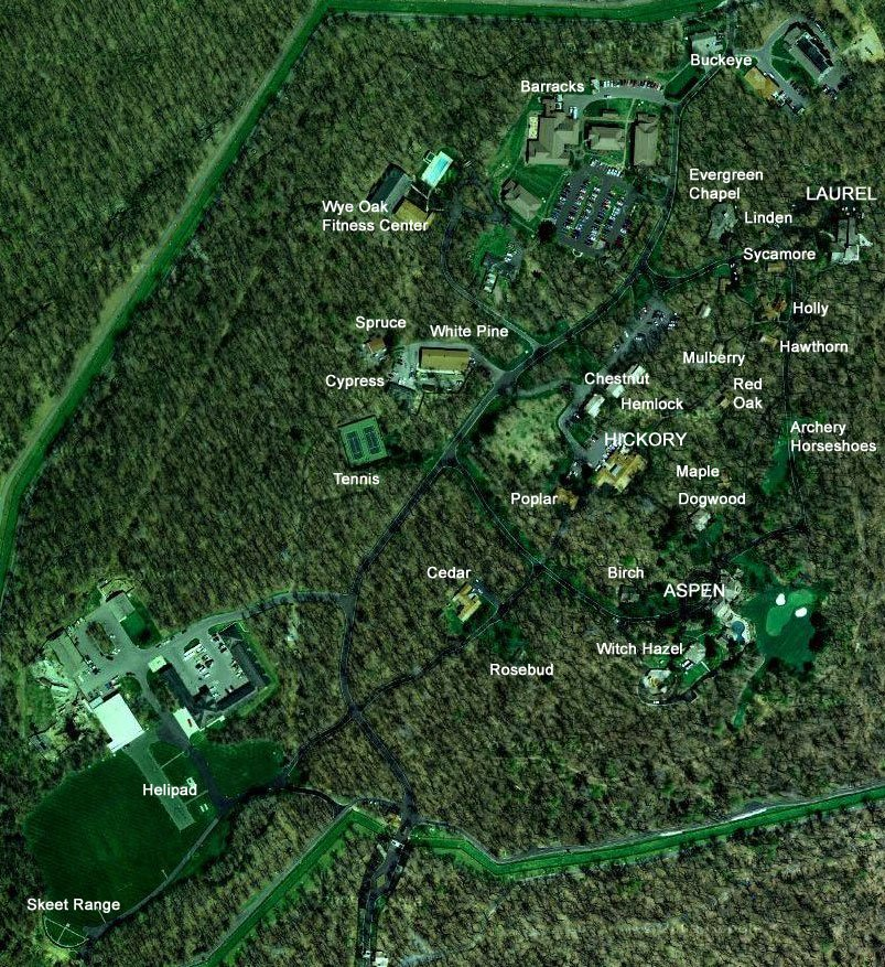 美國總統度假勝地大衛營。(Google地圖)