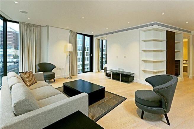 商人廣場3號高端公寓樓內景,這裏最小的一居室公寓也要近100萬鎊。(www.merchantsquare.co.uk)