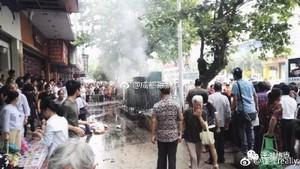 湖南發生變壓器爆炸1死7傷 路人被燒成火人