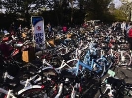 大陸首家共享單車企業倒閉 九成車失蹤