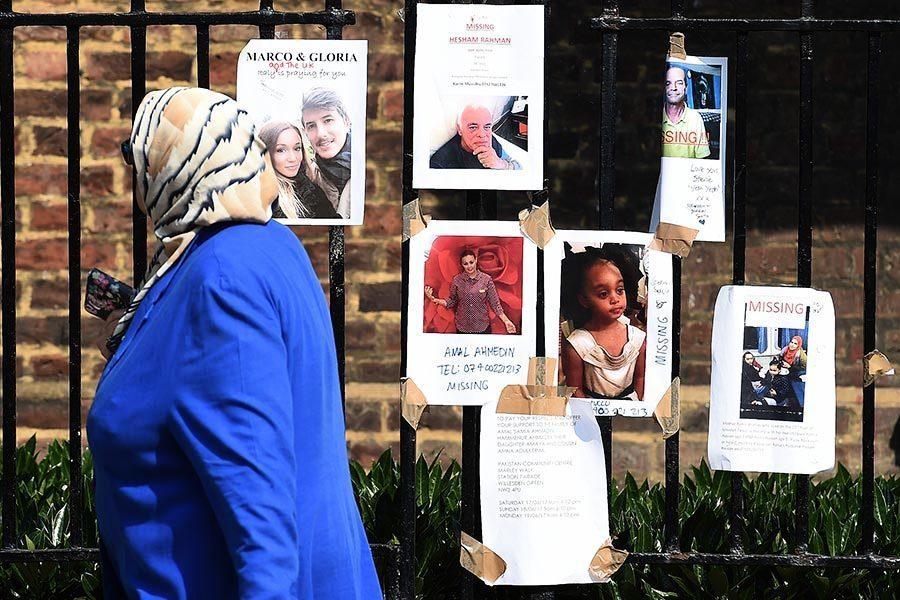 倫敦大火遇難或失蹤人數增至79人