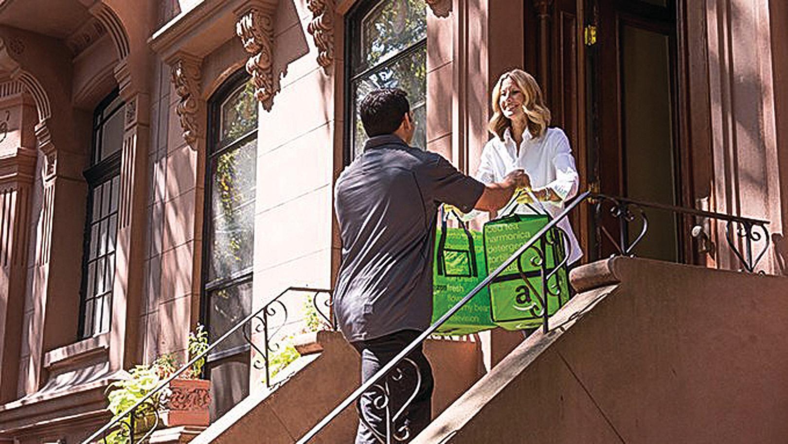 亞馬遜的生鮮食品「Fresh」服務主要是在都會區。(亞馬遜網站)