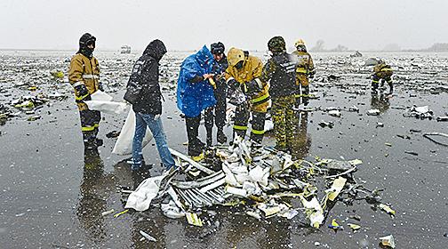 3月19日早晨,一架杜拜客機在俄羅斯上空失事,機上62人全部遇難。(AFP)