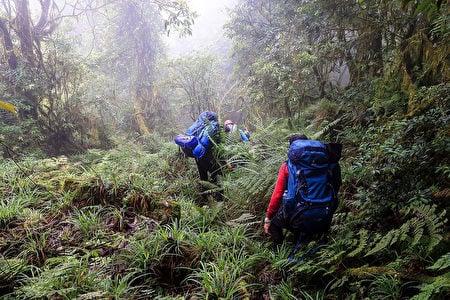 29歲李姓登山客獨自登「牡丹岩哈崙橫斷」的探勘路線,失聯30天後以殘存電力的行動電話求援。(雪羊提供/中央社)