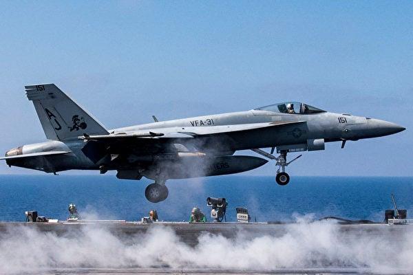 6月18日,美國F−18超級大黃蜂擊落敘利亞的Su−22,因為此前這架飛機在美國夥伴軍隊附近扔下炸彈。圖為F−18超級大黃蜂。(Mass Communication Specialist 2nd Class Christopher Gaines/Released)