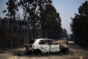 葡萄牙森林大火64死 無人機直擊煉獄