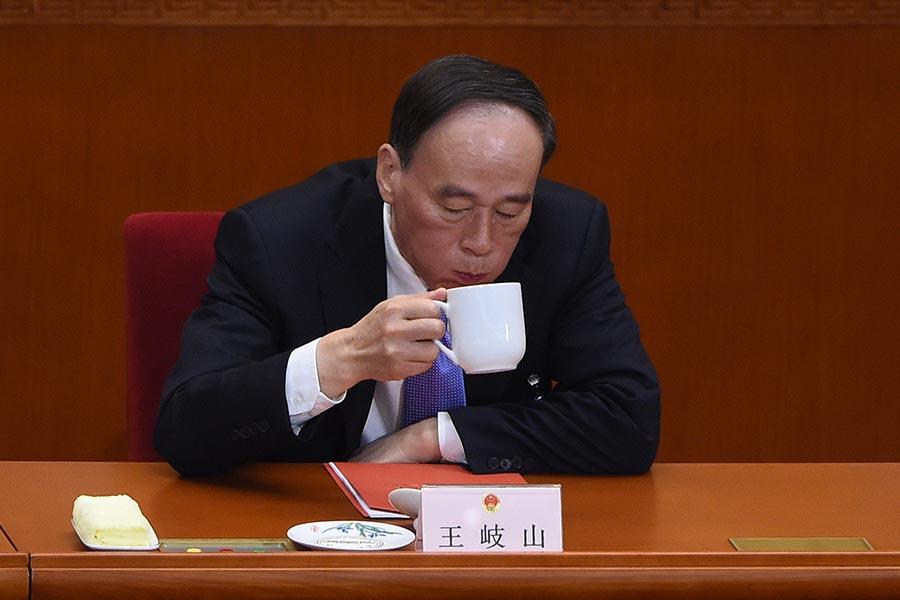 中紀委書記王岐山近日在湖南省調研並主持座談會。圖為王岐山資料圖片。(WANG ZHAO/AFP/Getty Images)