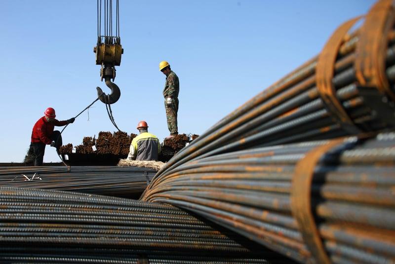 「地條鋼」這一劣質鋼材從2002年被要求取締以來,全國各地仍然存在,並且大量行銷海外。(大紀元資料室)