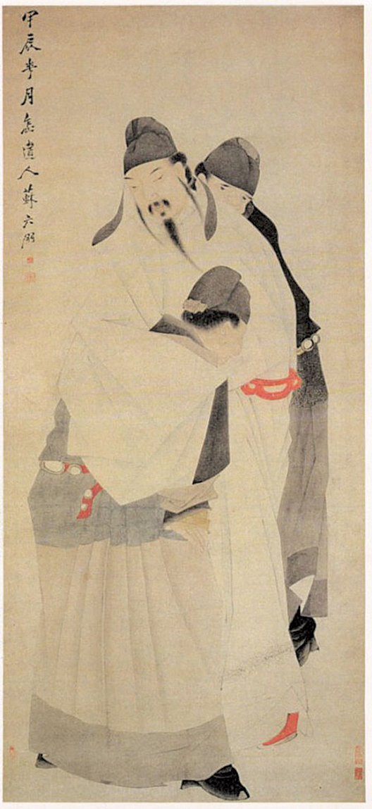 清蘇六朋繪《太白醉酒圖》,上海博物館藏。(公有領域)