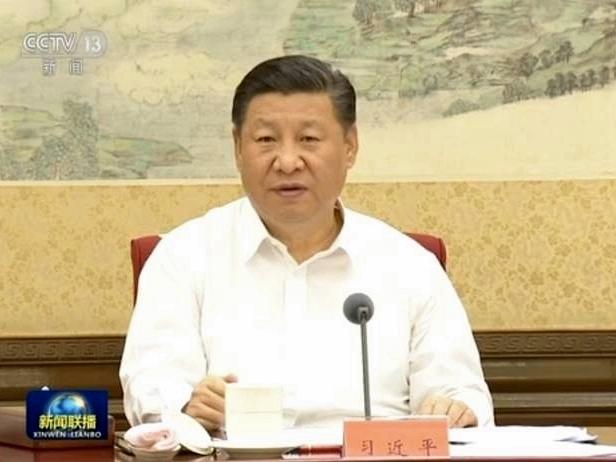 6月20日,習近平首次主持召開軍民融合發展委員會會議。(視像擷圖)