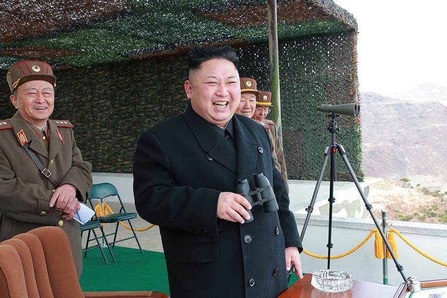 圖為北韓領導人金正恩。(STR/AFP/Getty Images)