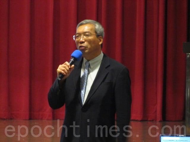 台灣財金文化董事長謝金河。(大紀元資料照)