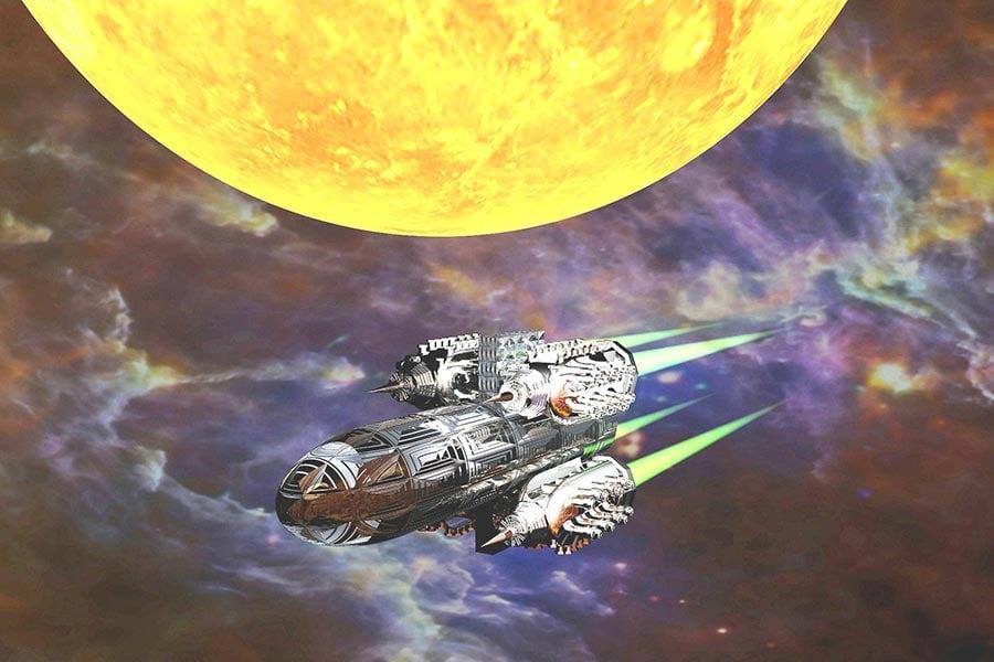幻想圖:星際飛行。(Pixabay)