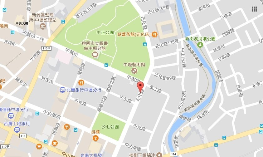 台灣桃園市中壢區元化路6月22日晚間傳出槍擊案,一名歹徒持槍闖入某大樓槍殺3人,隨後在逃逸過程中,遭強勢警力圍捕,歹徒自知難逃法網,舉槍自盡。(Google地圖)