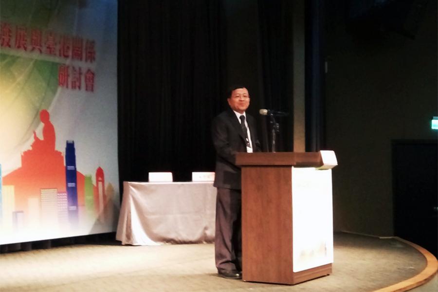 台灣陸委會副主委張天欽6月23日表示,台港民眾對對民主、自由、人權、法治等普世價值的看法,與中國大陸最遠距離 。(中央社)