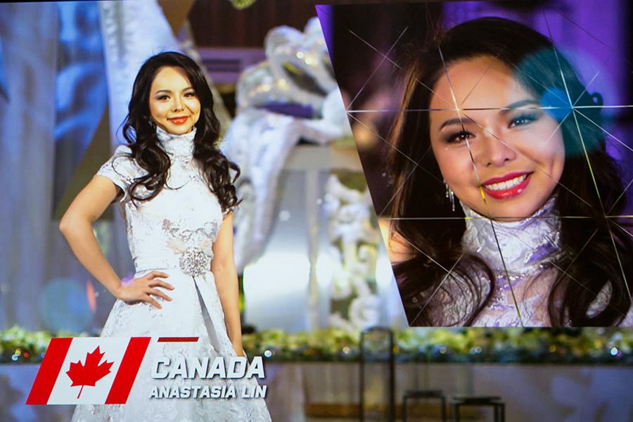 2016年12月18日,林耶凡參加在華盛頓D.C.近郊米高梅(MGM)酒店的劇場舉行的世界小姐決賽。(李莎/大紀元)