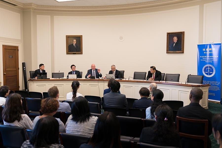 6月23日,制止中共強摘器官研討會在美國會舉行。(石青雲/大紀元)