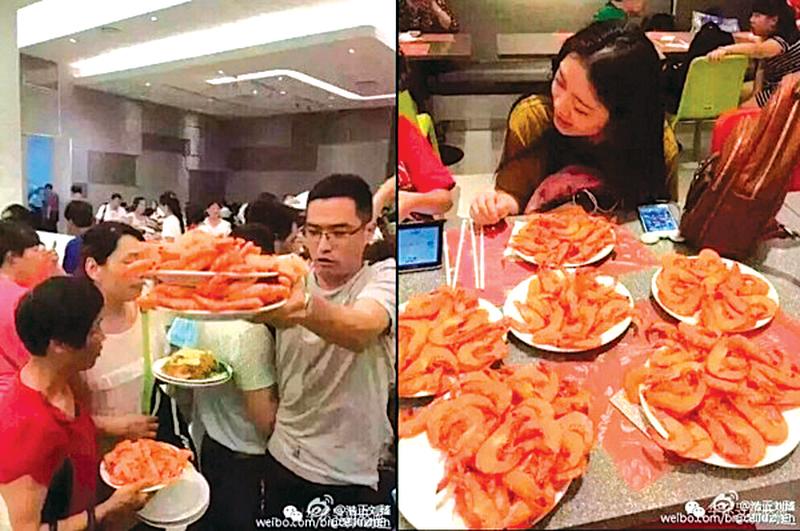 大陸客泰國吃自助餐狂鏟蝦