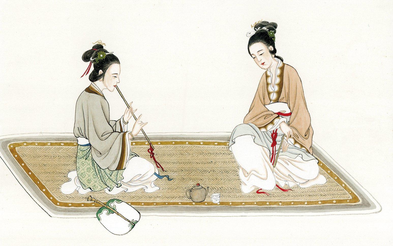 簫是古代禮樂中最重要的樂器之一,也是道家音樂的神器。(大紀元資料庫)
