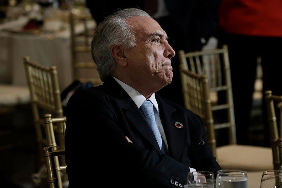 巴西總統特梅爾(Michel Temer)26日被控賄賂。(Peter Foley – Pool/Getty Images)