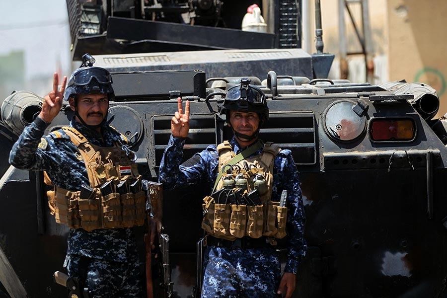 伊拉克軍官周一(6月26日)表示,從IS武裝份子手中收復摩蘇爾的戰鬥將在未來幾天內結束,IS在該地區的反擊企圖已經失敗。(AHMAD AL-RUBAYE/AFP/Getty Images)