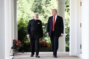 特朗普白宮會晤莫迪 美印經濟反恐合作成焦點