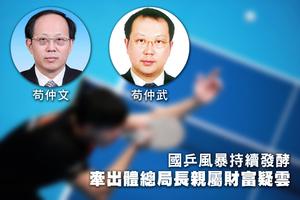 國乒風暴持續發酵 牽出體總局長親屬財富疑雲