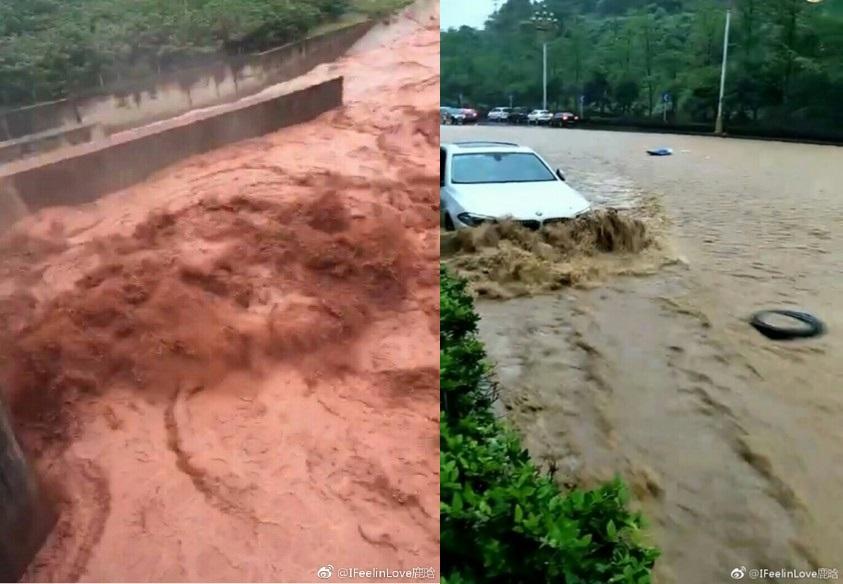 受洪災影響,貴州省銅仁、畢節、遵義等9市126.7萬人受災,13人死亡失蹤。(網絡圖片)