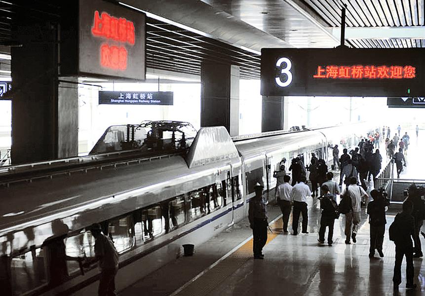 習訪港保安超嚴 上海往廣東列車二次安檢