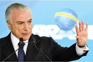 涉貪污受賄 巴西總統泰梅爾遭起訴