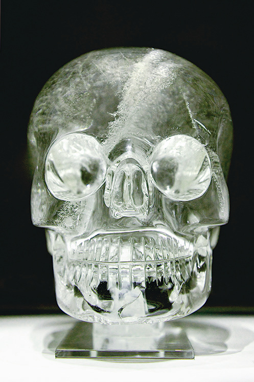 大英博物館收藏的水晶頭骨。(維基百科)