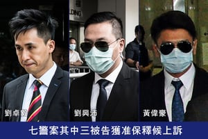七警案其中三被告獲准保釋候上訴