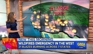 美猶他州山火高達100英尺 加州也增兩宗火災