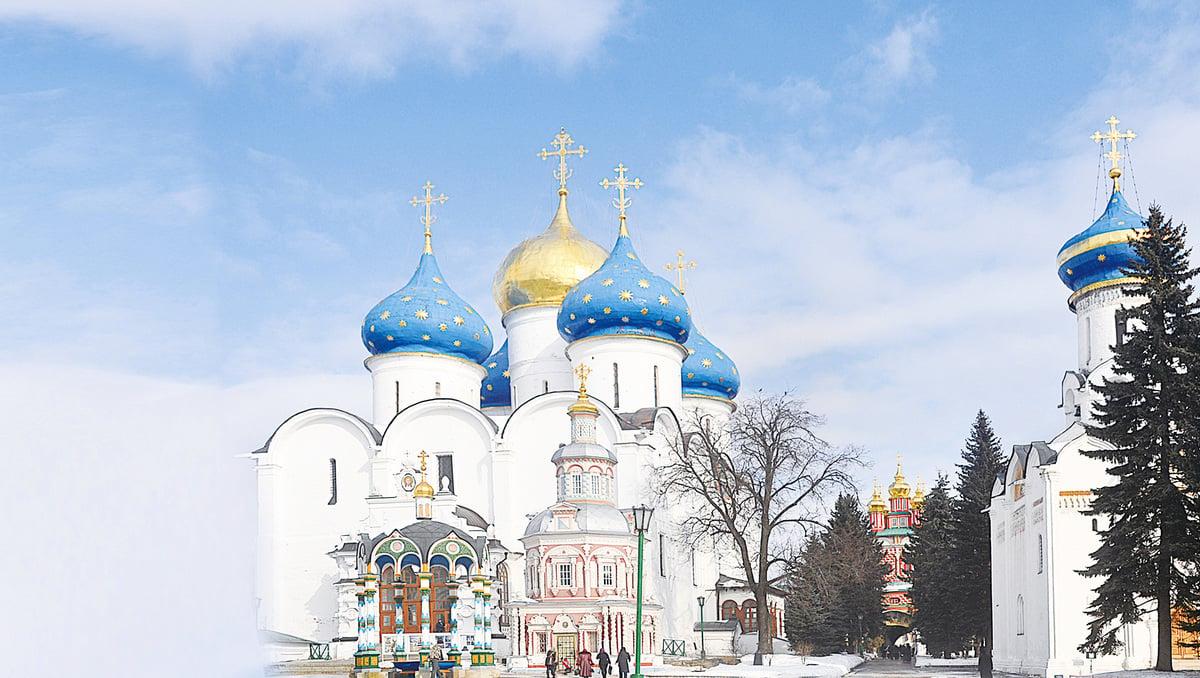 位於謝爾吉耶夫鎮三一修道院內的的聖母升天堂。(網絡圖片)