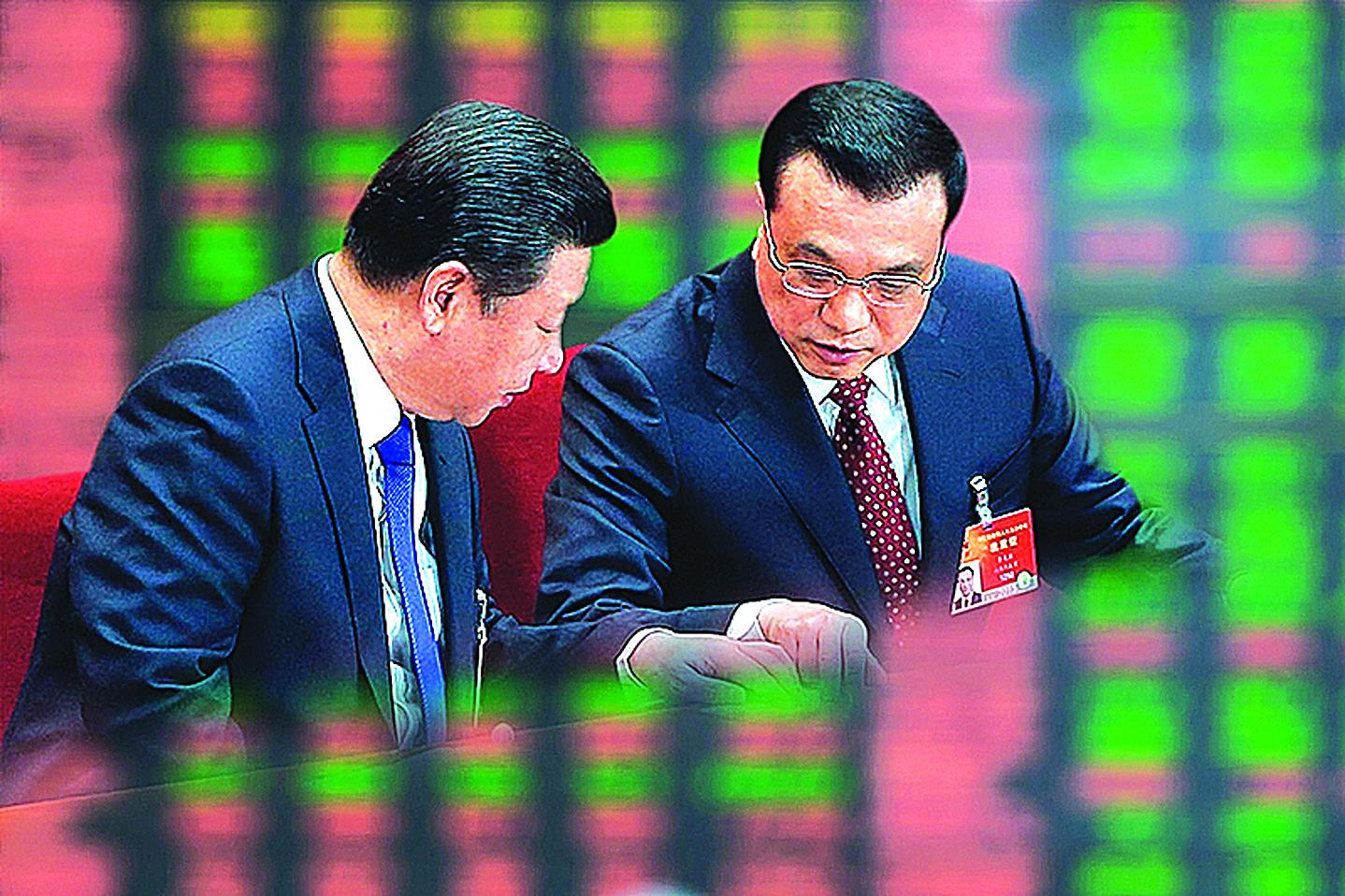 習近平和李克強正在整頓中國金融市場,對像是能夠藉用權力槓桿,在資本市場上翻雲覆雨的資本大鱷。(大紀元合成圖片)