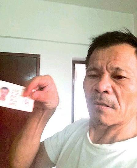 本身是香港永久居民的訪民盧志華,27日入境香港被阻。(盧志華提供)