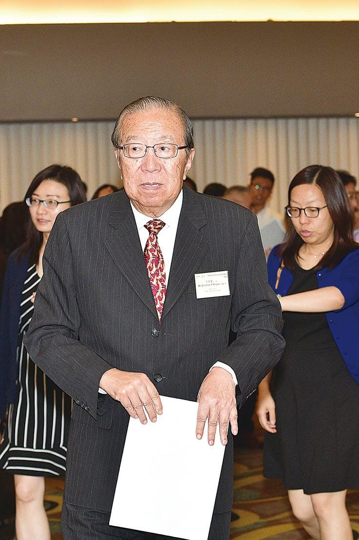 現時擔任公益金主席的李業廣日前出席公益金年會。(郭威利/大紀元)