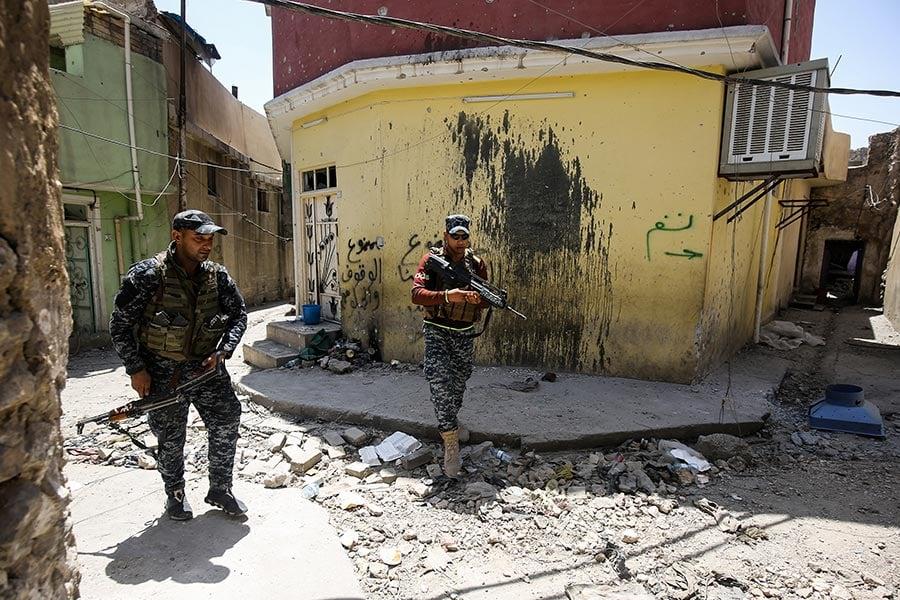 美國駐巴格達軍事發言人狄龍(Ryan Dillon)中將表示,奪取大清真寺是伊拉克政府的「重大勝利」,並預計伊拉克政府將在幾天內宣佈完全奪回摩蘇爾。(AHMAD AL-RUBAYE/AFP/Getty Images)