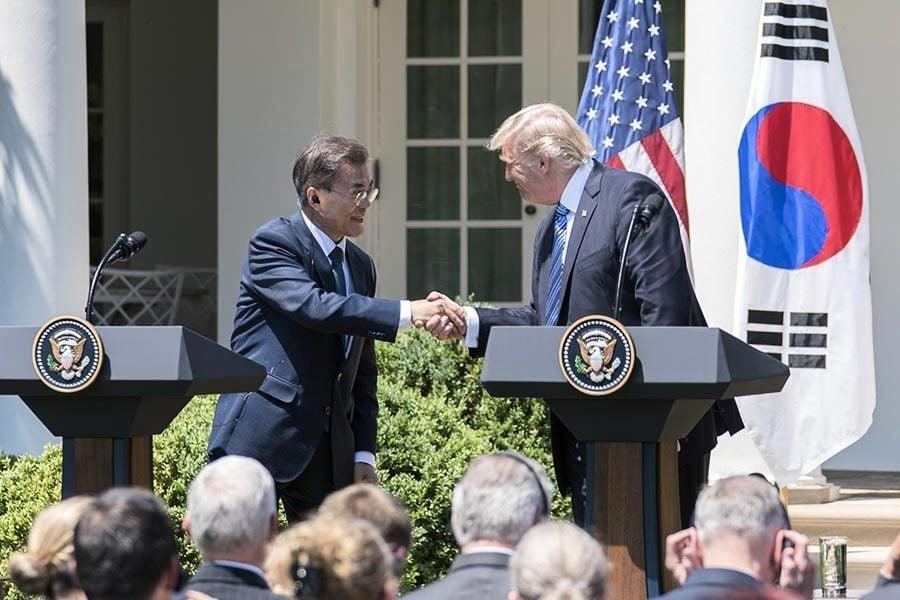 美韓峰會相談歡 文在寅:與特朗普通力合作