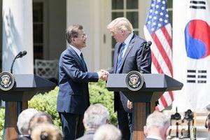 特朗普憂貿易逆差 美韓開始重談貿易協定