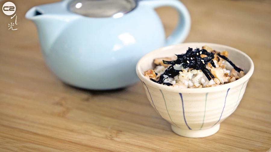 三文魚龍井茶泡飯