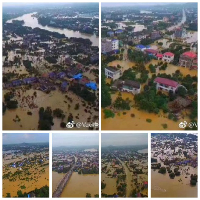 湖南、廣西、貴州等地近期遭受嚴重洪澇災害。(網絡圖片)