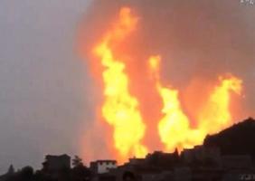 貴州天然氣管道爆炸火光衝天 已致8死35傷