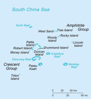 一名美國海軍官員表示,美國史塔森號(USS Stethem)逐艦周日(7月2日)駛入南海西沙群島中建島(Triton Island)的12海里範圍內,執行自由航行任務。(維基百科公有領域)