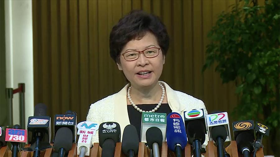 新任特首林鄭月娥首日到政府總部上班,今早會見傳媒。(政府新聞公報)