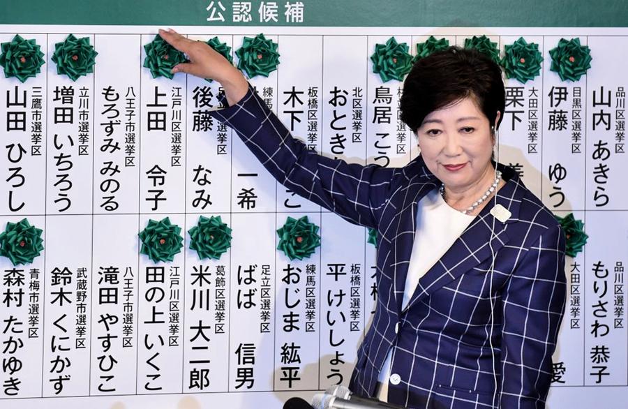 東京議會選舉小池揚威安倍重創