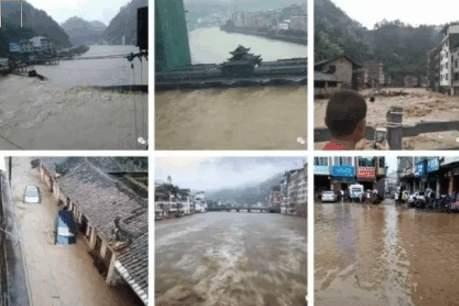 廣西遭遇嚴重洪災,街道積水不退,9個城市逾39萬人受災。截至目前,已造成10人死亡、12人失蹤,直接經濟損失近7億元人民幣。(網絡圖片)