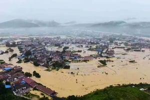 大陸11省61市遭遇水災 逾千萬人陷入困境