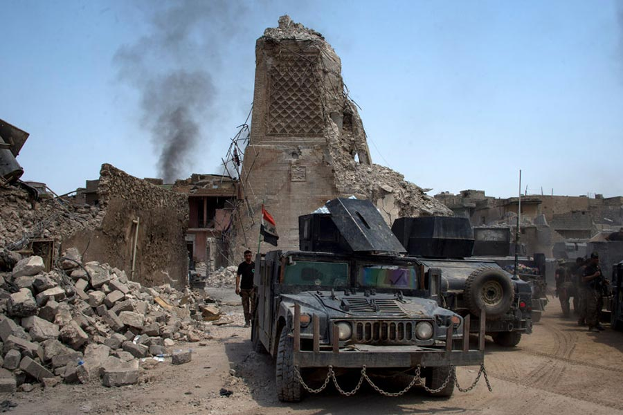 伊拉克指揮官預測,本周將會取得收復摩蘇爾的最終勝利。(FADEL SENNA/AFP/Getty Images)